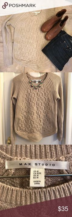 Max Studio Sweater Max Studio sweater. Super cozy!! 100% cotton. Max Studio Sweaters Crew & Scoop Necks