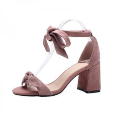 Women's Style Sandal Shoes Summer Bucket List Ideas Pink Block Heel Sandals Suede Ankle Bow Heels For Music Festival Commuting Sandal Shoes For Students Winter Outfits 2018 Fall Fashion Outfits For Women NYE Outfit 2017 Cute Shoes For Girls, Ball, Date | FSJ
