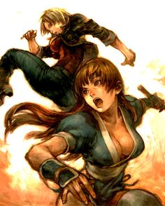 Keep going with fighting games, more #Inspiration #DOA girls by ~cellar-fcp