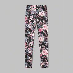 patterned ponte leggings