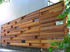 Hidden panel wooden gates