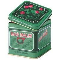 Bag Balm.  Originally manufactured to help keep cows udders healthy, Bag Balm is now widely recognized by gardeners as a great antiseptic and healing agent for chapped hands, scratches, abrasions, windburns and sunburn. Use some on dry, rough feet, elbows and hands, especially during cold, dry winter months. Also awesome to help heal cuts and scratches on animals!