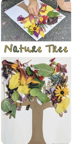 Nature Tree – Raising Hooks – Crafts for Kids – Fall Nature Activities, Kids Learning Activities, Toddler Learning, Toddler Fun, Toddler Crafts, Preschool Activities, Flower Activities For Kids, Outside Activities For Kids, Summer Activities