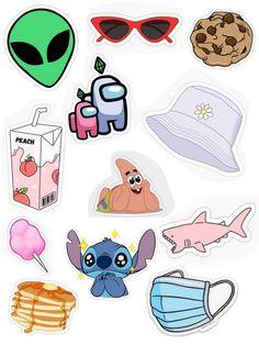 Preppy Stickers, Cute Laptop Stickers, Kawaii Stickers, Cool Stickers, Printable Stickers, Journal Stickers, Scrapbook Stickers, Planner Stickers, Homemade Stickers