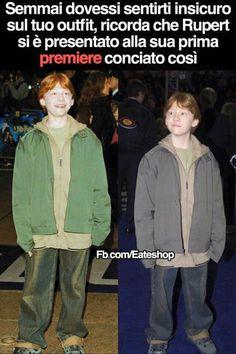 Uuh indossa i vestiti di Fred e George ovviamente è entrato nella parte