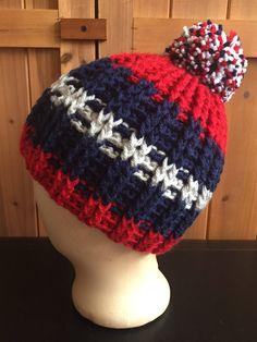 8b66b824621 Patriots inspired winter beanie hat