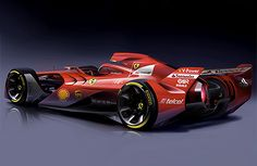 """Ferrari has revealed images of a Formula 1 concept car in an effort to fuel debate about how the sport's racing cars should look like in the future. Accompanying the renderings is Ferrari posing the question """"Would it be possible to come up with […] Ferrari F1, Carros Ferrari, Supercars, Auto F1, Sport Cars, Race Cars, Formula 1 Car, F1 Racing, Drag Racing"""