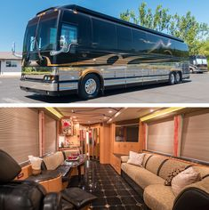 A Prevost Bus conversion is the ultimate luxury motorhome. Marathon is the leader in luxury bus conversions, service and technology. Browse our inventory. Prevost Coach, Prevost Bus, Rv Trailers, Travel Trailers, Peterbilt For Sale, Marathon Coach, Luxury Motorhomes, Led Exterior Lighting, Bad Room Ideas