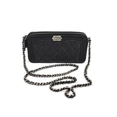 Chanel WOC Black Diamond Quilted Leather