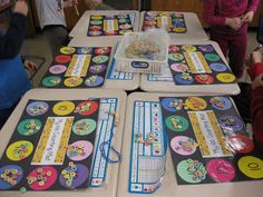 """My 100th day counting mats"""