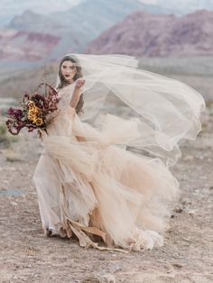Fall Bride Desert Shoot