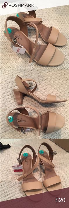 Lucky Brand nude heels Strap around the ankle makes them a great pair of heels for walking! Lucky Brand Shoes Heels