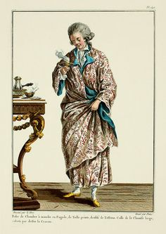 1780 French Fashion Plate - Men's Dressing Gown