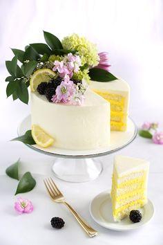 Celebrate like a Royal with Lemon Elderflower Cake | Sprinkle Bakes