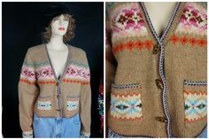 90s Pure LAMBSWOOL Sweater Cardigan Womens NWOT / Vng GAP 90s Native Ethnic Mexican Wool Sweater / Women Lambswool Buttondown Ethnic Sweater by HippieGypsyBoutique on Etsy
