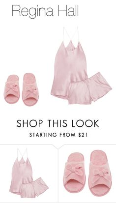 """Pajama Party : Regina Hall"" by ajamorrisey on Polyvore featuring Olivia von Halle and Deluxe Comfort"