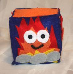 Cute Felt Cube Plush Campfire Plush, Funny Stuffed Camping Fire by SomethingbyNikki on Etsy