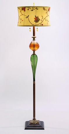 James floor lamp by Kinzig Design has a beaded Victorian style shade, with two…