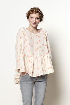 blouse Goutte pompon 100% soie - blouse - Des Petits Hauts