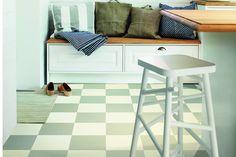 Vinylgolv Tarkett Extra Remy Grey And White - Plastmatta - Plastgolv Furniture, Room, House, Home Decor, Flooring, Inspiration, White, Contemporary Rug, Grey And White