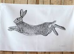 Image result for hare tea towel