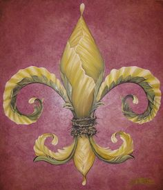 Flower Of New Orleans Yellow Painting