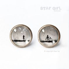 Star Girl Classic Bike/Clouds - mini screws from Ewa Saj by DaWanda.com