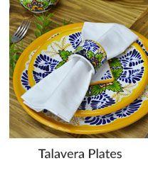 Talavera Plates Mexican Furniture, Talavera Pottery, Dinnerware Sets, Serving Dishes, Handmade Art, Plates, Snacks, Tableware, Licence Plates