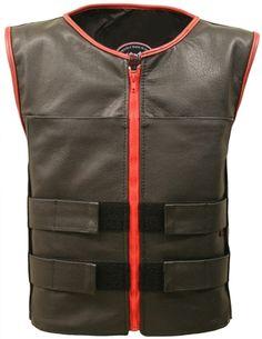 Bulletproof style Vests (Leather Tactical Street Vest) - Hillside USA -