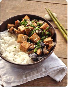 tofu aubergine au miso