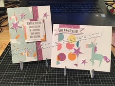 Cards created with the Little Dreamer paper pack & cardmaking stamp set. #ctmhlittledreamer EllyMae.ctmh.com