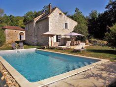 Moulin de Lalande, Vakantiehuis voor 6+2 personen, omheinde tuin, privé zwembad,beekje achter tuin. Lot, Zuid-west Frankrijk.