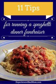 Learn 11 great tips for running a spaghetti dinner fundraiser from a mom who's done it before!