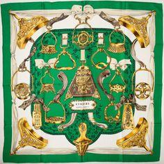 Heritage Vintage  Hermes Green, Gold, and Brown
