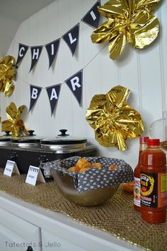 Chili Bar, Chili Recipe, FREE printables and $100 Dollar Tree Gift Card Giveaway! -- Tatertots and Jello