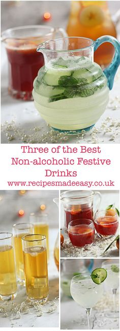 recipes made easy - 3 of the best non alcoholic festive drinks. Non drinkers need not miss out on the fun if you serve these easy to make alcohol free drinks