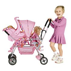 Joovy Caboose Doll Stroller from One Step Ahead | 2W715192 - Not sure if I want another stroller in the house but Madelynn is getting a baby doll when the twins come.