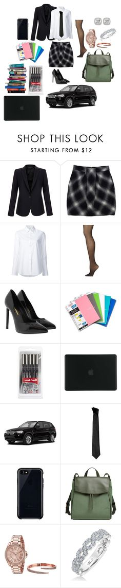 """""""school"""" by shayshayv ❤ liked on Polyvore featuring Equipment, Robert Rodriguez, Misha Nonoo, Calvin Klein, Yves Saint Laurent, Five Star, 7 For All Mankind, Tucano, Versace and Belkin"""