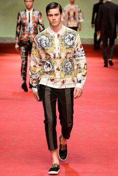 Spring 2015 Menswear - Dolce & Gabbana