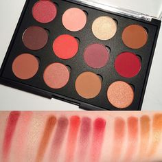 Timing Is Everything: Aging Tips And Tricks Makeup Swatches, Makeup Dupes, Beauty Makeup, Eye Makeup, Drugstore Beauty, Red Eyeshadow Palette, Makeup Palette, Coastal Scents Hot Pots Swatches, Beauty Magic
