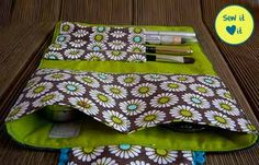 Cosmetic bag sewing patterns - a few great little projects for Christmas presents!