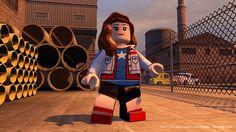 LEGO Marvel's Avengers - America Chavez (Miss America). Hmmm, I'm thinking they missed something here. She doesn't look at all Hispanic. Lego Marvel Avengers Game, Avengers Trailer, Lego Duplo, Civil War Characters, Lego Hacks, Lego Humor, Mega Pokemon, Pokemon Games, Lego Videos