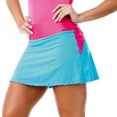 Short Saia Shine CAJUBRASIL Fitness Wear