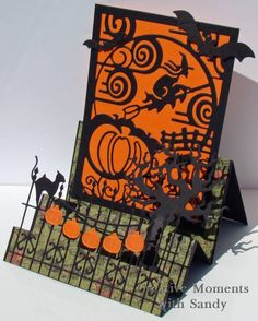 FUN Step card - I wouldn't necessarily do the whole card as is, but I love the iron gate idea--Fantastic artistry!