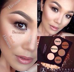 Highlighting and Countouring using Anastasia Beverly Hills contour kit…