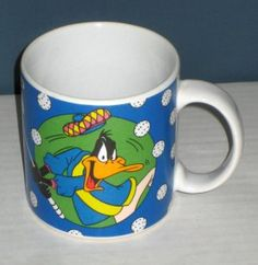 Daffy Duck Ceramic Golf Golfer Golfing Handled Coffee Mug Cup Sakura Looney Tunes 1994 $5