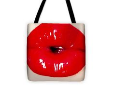 Bad Bessie Pouty Lips - Tote Bag Thing 1, Reusable Tote Bags, Lips