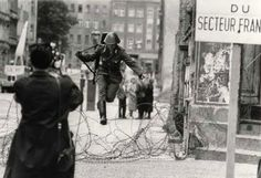 Conrad Schumann - © Peter Leibing East German soldier named Hans Conrad Schumann who famously defected to West Germany during the construction of the Berlin Wall in 1961