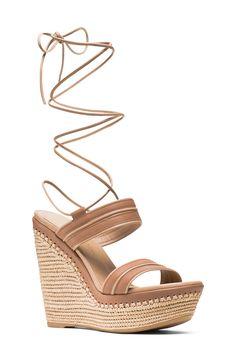 Stuart Weitzman 'Abandon' Lace-Up Platform Sandal (Women)