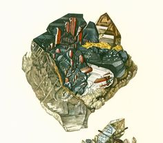 Geological Wall Art. Antique Mineralogy Print. Mineral wall art. Vintage geology art. Gift idea for geologist student. Gemstones illustrations. Published in Paris. 45 year... ➡️ http://jto.li/RxwLf